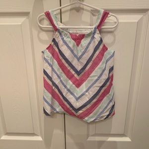 Gymboree girls size 5 pink blue mint and gold top